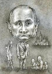Caricature Vladimir Putin