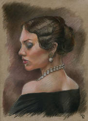 'Lady in pastel'