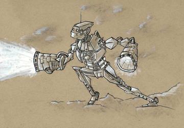 Robot Sketch by jessecarlsteen