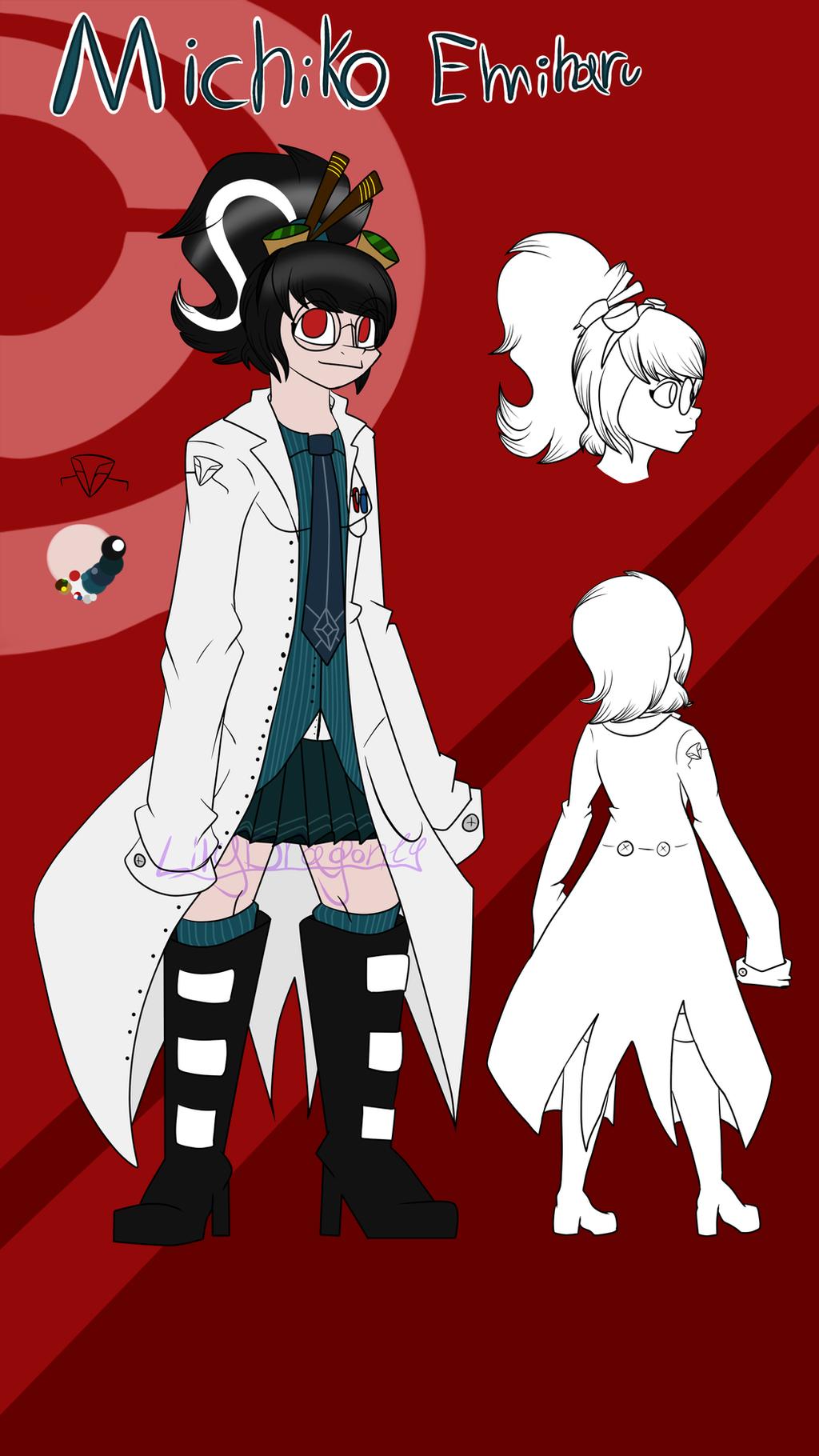 My main Danganronpa oc:Michiko Emiharu by LilyDragon14