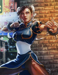 Chun-li: SF Cover Art by JophielS