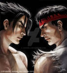 Tekken X Street Fighter: Jin Kazama/ Ryu Cover Art