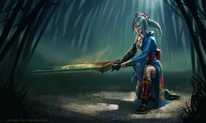 League of Legends: Riven (Geisha Skin)