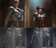 Lili and Eliza: Tekken Revolution WIP