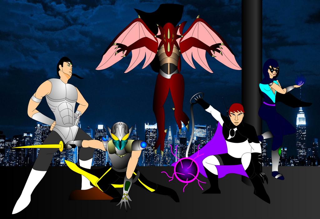 Superheroes Unite by Mecha-Mike