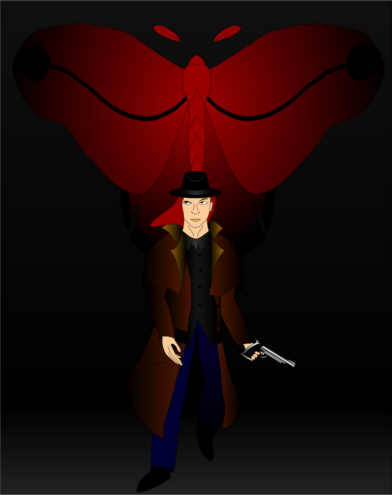 Curse of the Red Moth Poster 2 by Mecha-Mike