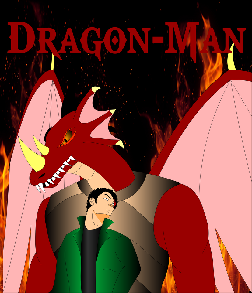 Dragon-Man Cover Art 1 by Mecha-Mike