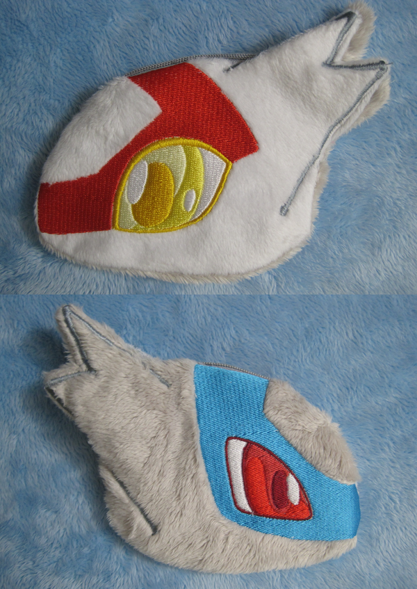 Latios and Latias double sided plush pouch by aSourLemon