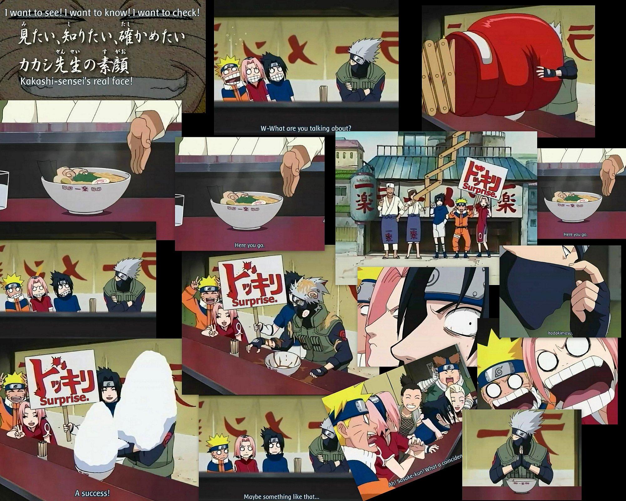 Kakashi Mask Episode Kakashi Face Mask Kakashi