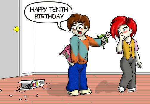 'Happy Tenth Birthday'