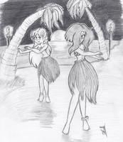 Sketch : Bay and Honey Hula by CDRudd