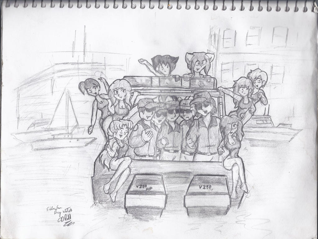 Sketch 2014 Baywatch boat scene by CDRudd