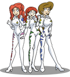 The Wotch Cosplaying as Pixie Rangers