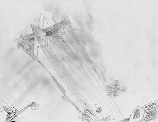 Airship Wanderer-Arrival by PaxAeternum