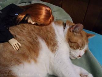 Sleepy Redheads by LupusDarkmoon