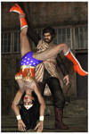 Wonder Woman defeated by alien caveman