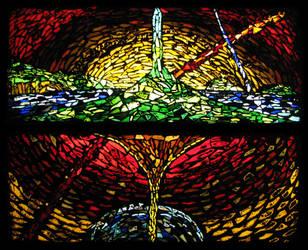 Scrap Glass World by AndromedaRoach