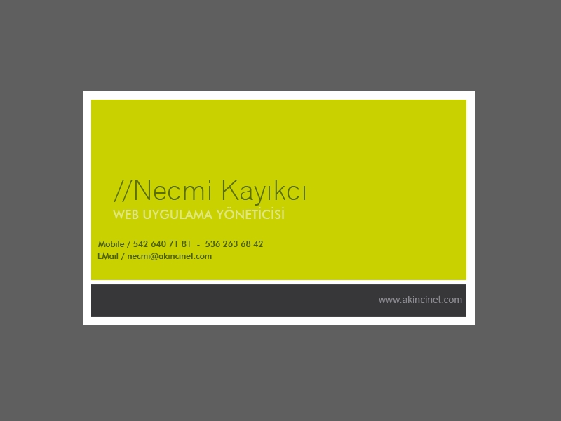 Business Card by necmikayikci