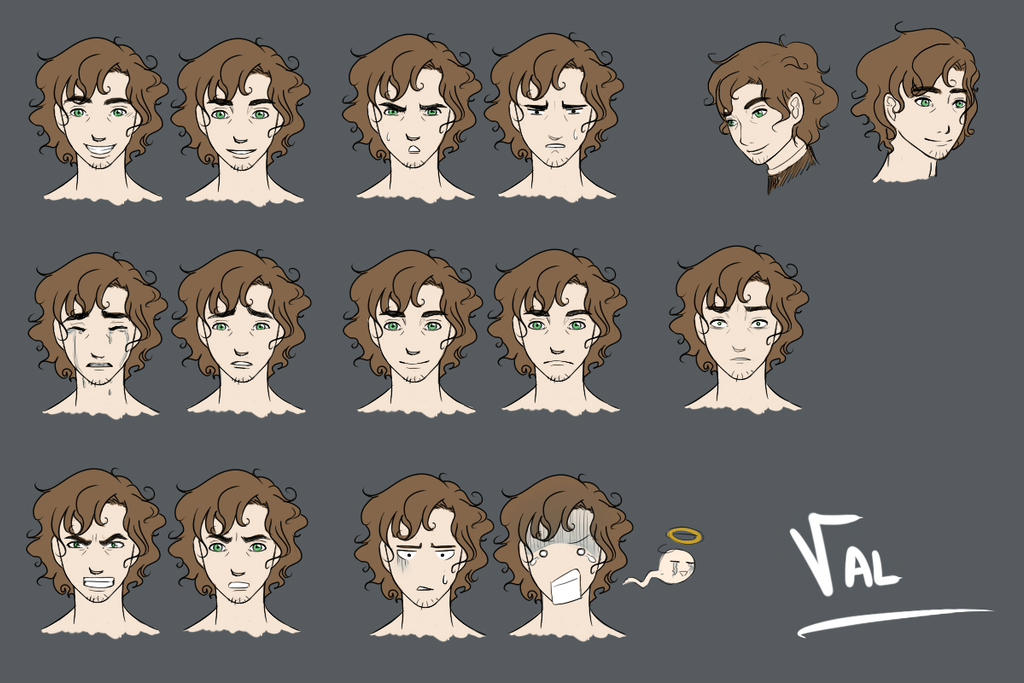 Val Morris - Expression Sheet by Lei-Mizuhime