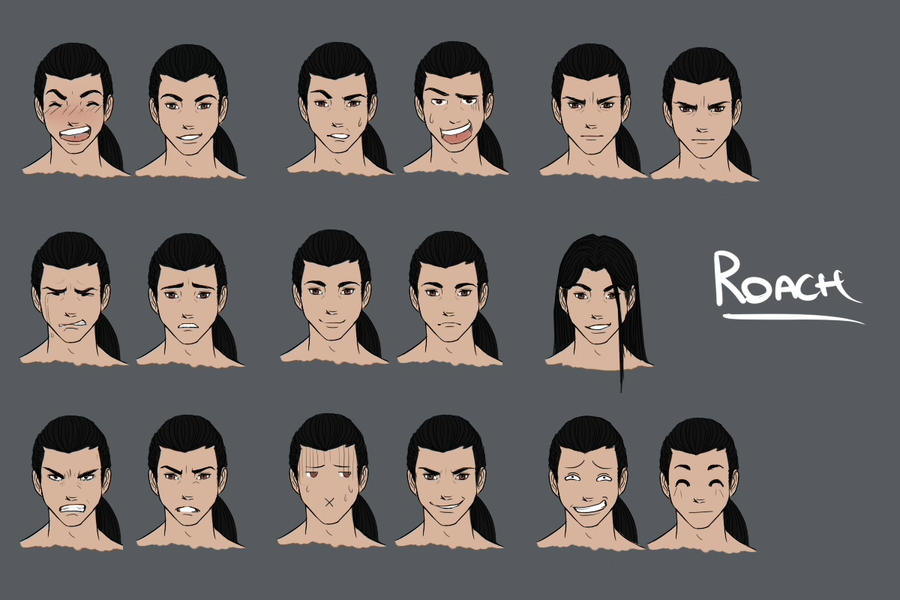 Roach - Expression Sheet by Lei-Mizuhime