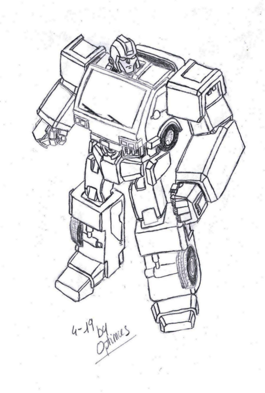 Ironhide g1 by optimusprime29 on deviantart for Transformers g1 coloring pages