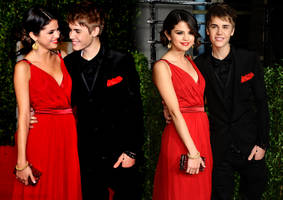 Selena and Justin Blend by Sareletje