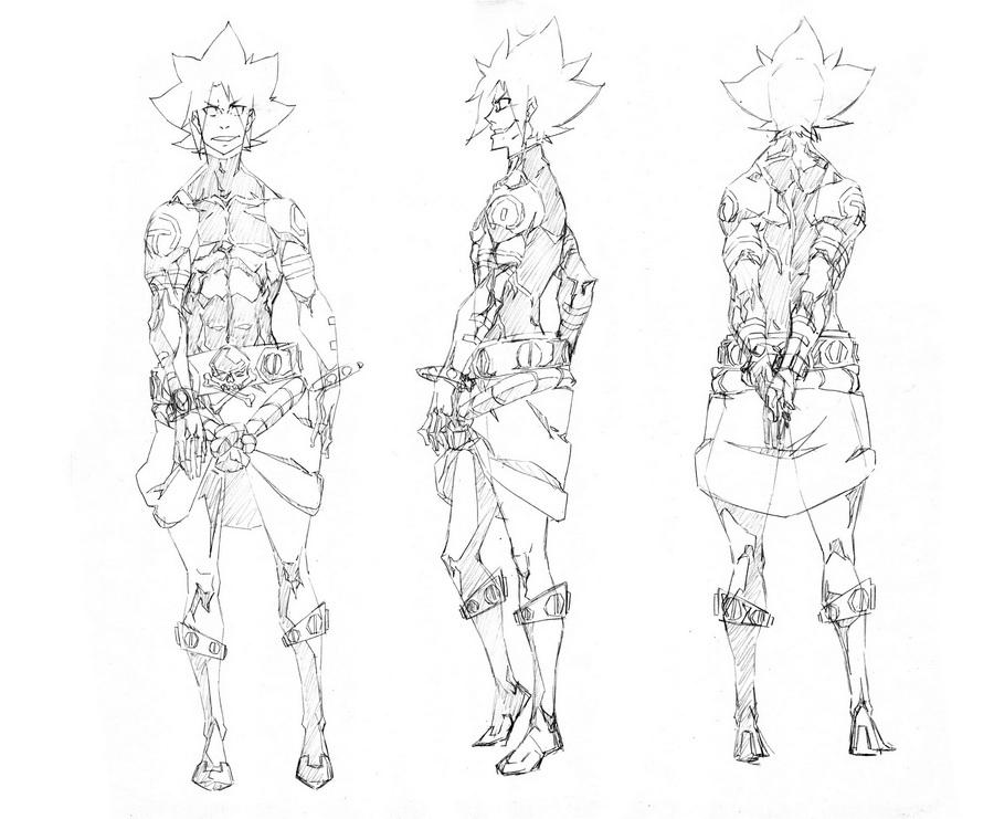 character design, style 2, male 2 by wolfsmoke