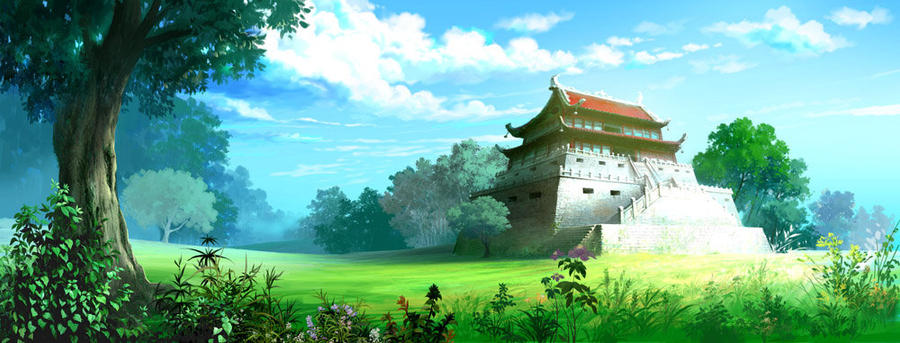 Anime Scenery Forest Anime Mountain Backgro...