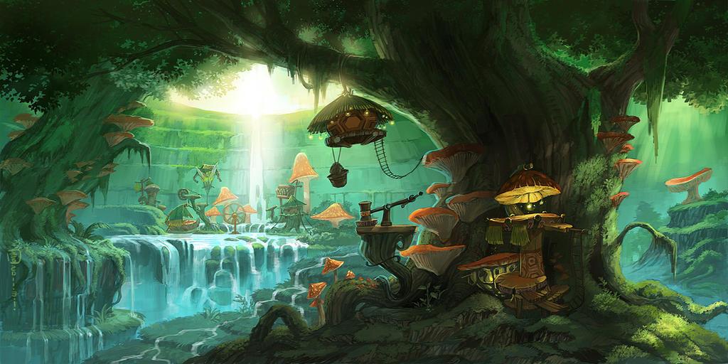 Masp Ideas Floting Islands Magic Forest