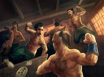Bar Fight by auspiciouspanda