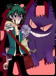 Villain Deku and some Pokemon