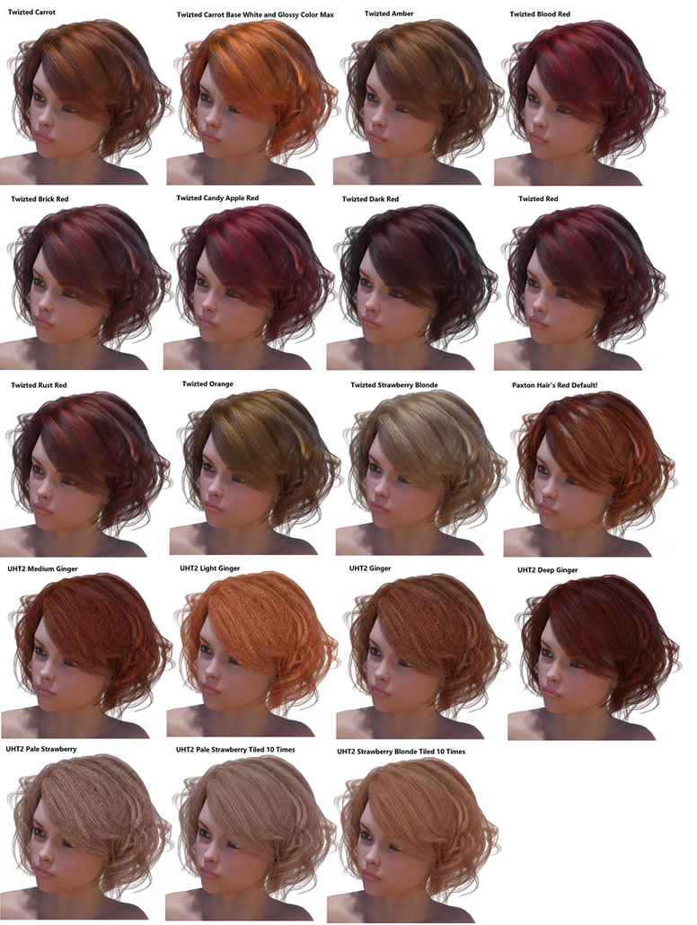 A hair color comparison chart by talidesade on deviantart a hair color comparison chart by talidesade nvjuhfo Image collections