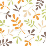 Assorted Leaves Retro Colors