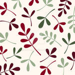 Assorted Leaves Reds Greens Cream