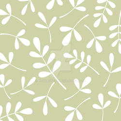Assorted Leaves White on Lime