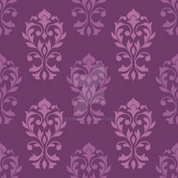 Heart Damask Pattern Plum Color Mix
