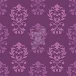 Heart Damask Pattern Plum Color Mix