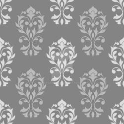 Heart Damask Pattern Gray Mix