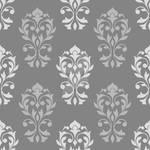 Heart Damask Pattern Gray Mix