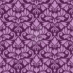Flourish Damask Ptn Pink on Plum