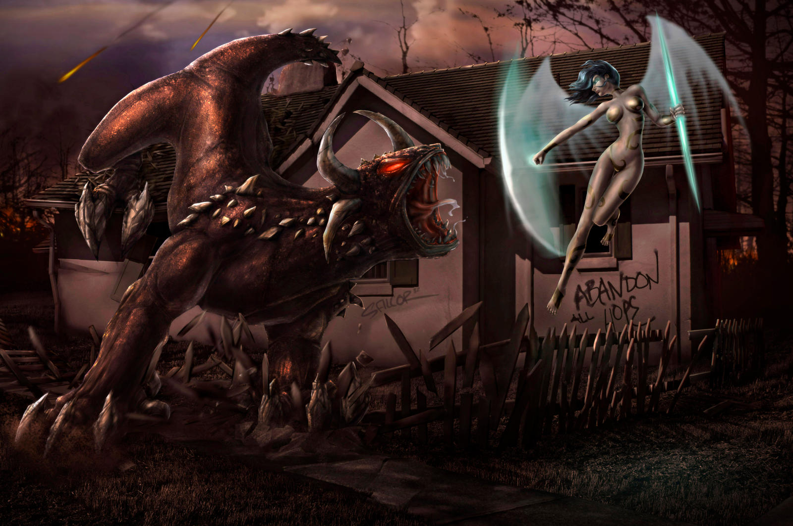 Between heaven and hell by salcorid