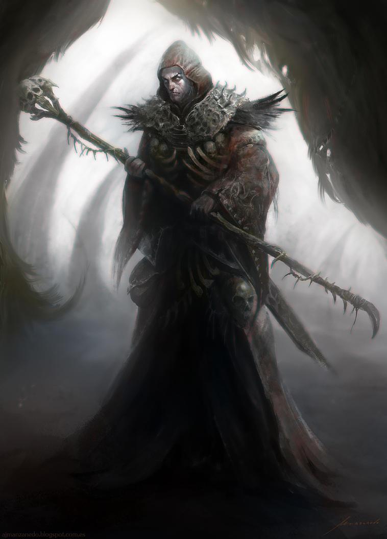 The Warlock Necromancer by Manzanedo