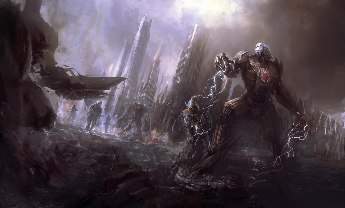 Battle of robots by Manzanedo
