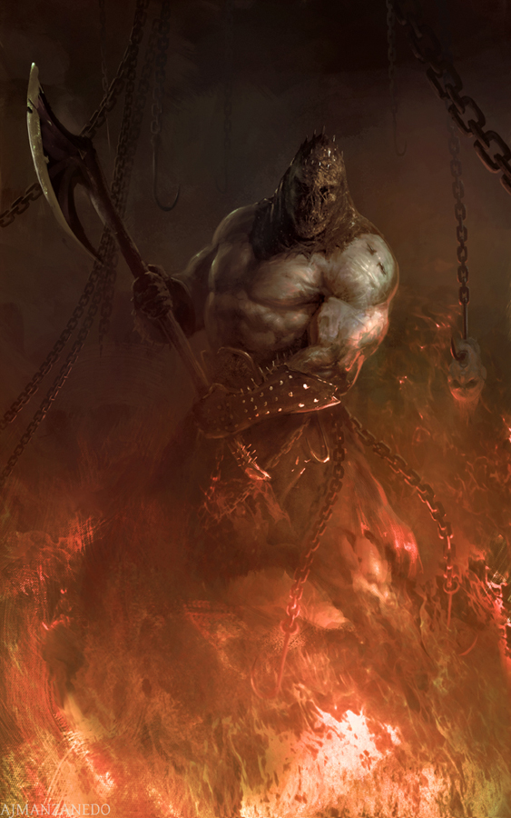 Infernal executioner by Manzanedo