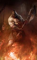 Infernal executioner by Manzanedo
