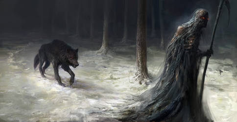 Wolf and Death