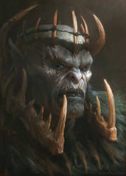 Orc King by Manzanedo