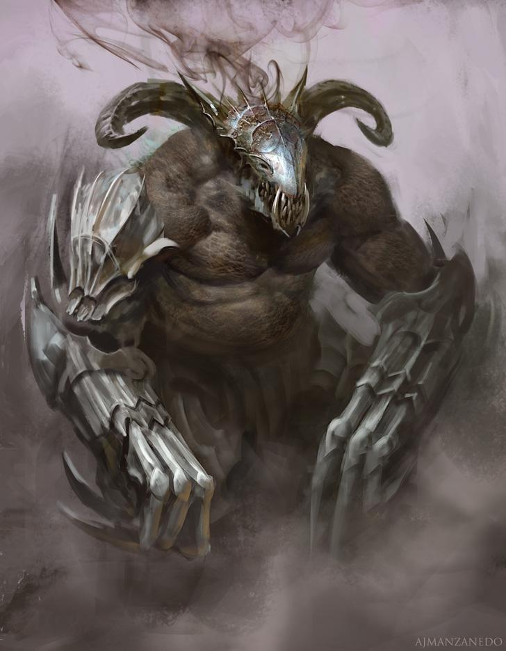 Golem Oscuro by Manzanedo