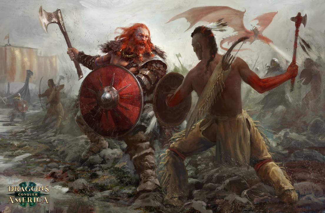 Vikings In America by Manzanedo