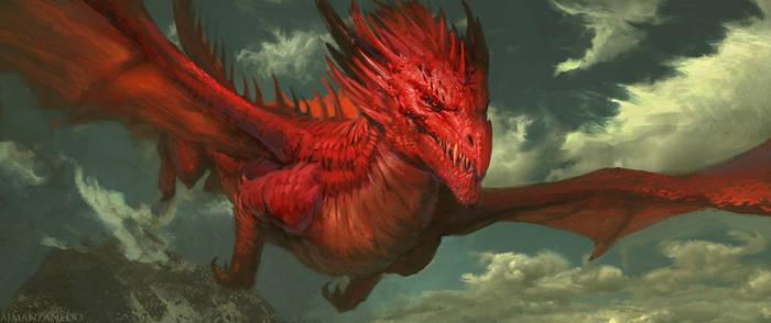 Red dragon by Manzanedo